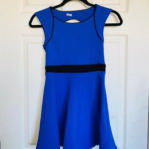 sally miller couture blue and black girls dress